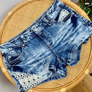 Almost famous denim short shorts